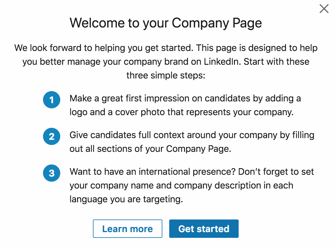 Welcome to your Company Page