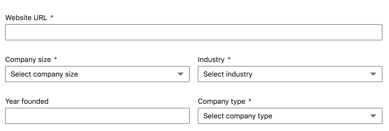 LinkedIn page settings
